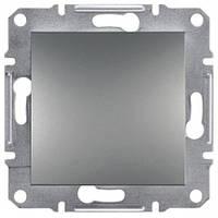 Выключатель ЕРН0100162 одинарный с самозаж. контактами Asfora Сталь
