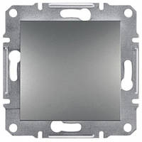 Выключатель ЕРН0400162 одинарный проходной с самозаж. контактами Asfora Сталь