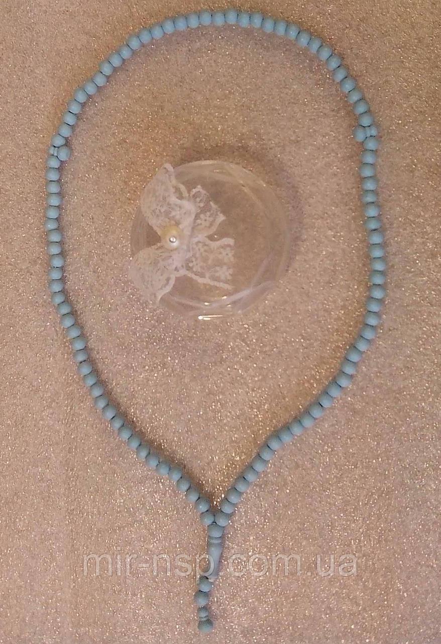 Четки 99 бусин ароматизированные голубые из эбонита