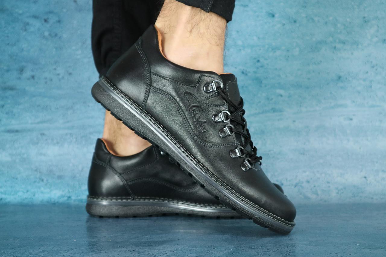 Мужские повседневные ботинки Clarks (черные), ТОП-реплика