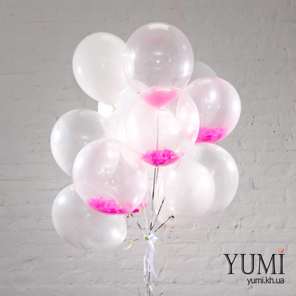 Стильный букет из 15 воздушных шаров для девушки