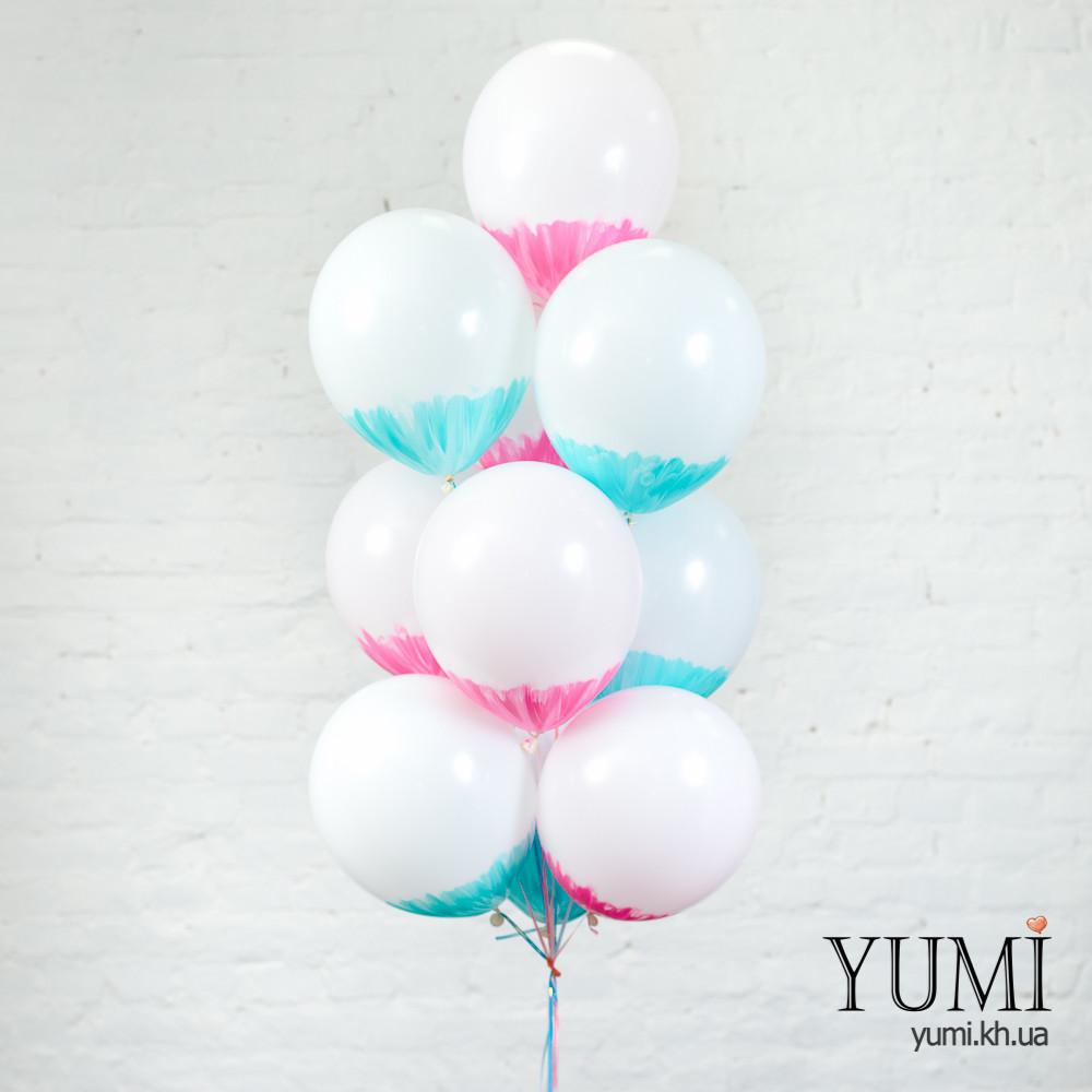 Фонтан из гелиевых шариков для ребенка