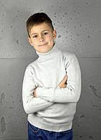 Гольф Many&Many для мальчика однотонный, светло-серый., фото 1