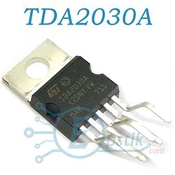 TDA2030A, (174УН19), одноканальный HI-FI усилитель мощности класса АВ, 18Вт, ± 22В, 3.5А, TO220-5