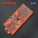 Проффесиональный резьбонарезной набор метчиков и плашек, 40 пр. Harden Tools 610459, фото 2