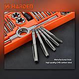 Проффесиональный резьбонарезной набор метчиков и плашек, 40 пр. Harden Tools 610459, фото 3