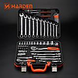 """Универсальный набор инструмента 77 предметов 1/2"""" и 1/4"""" Harden Tools 510677, фото 2"""