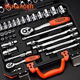 """Универсальный набор инструмента 77 предметов 1/2"""" и 1/4"""" Harden Tools 510677, фото 3"""