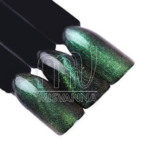 Зеркальная втирка, пигмент 3D кошачий глаз №1, 2 г зелено-салатовый