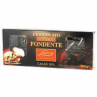 Итальянский черный шоколад 50% Laica Cioccolato Extra Fondente 500г