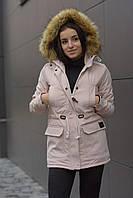 Зимняя женская парка Node beige parka