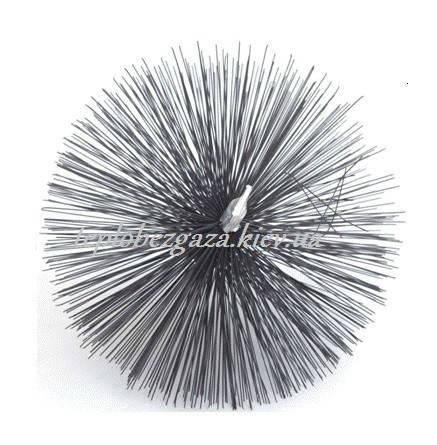 Польская металлическая щетка для чистки дымоходов 175 мм, фото 2