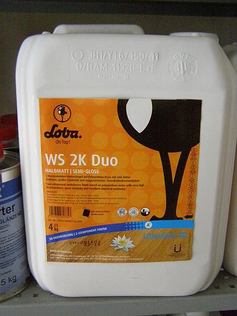 Лак WS 2K DUO двухкомпонентный полуматовый 5л