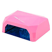 LED+CCFL Лампа гибридная, 36 Вт, нежно-розовая, сенсорная, таймер