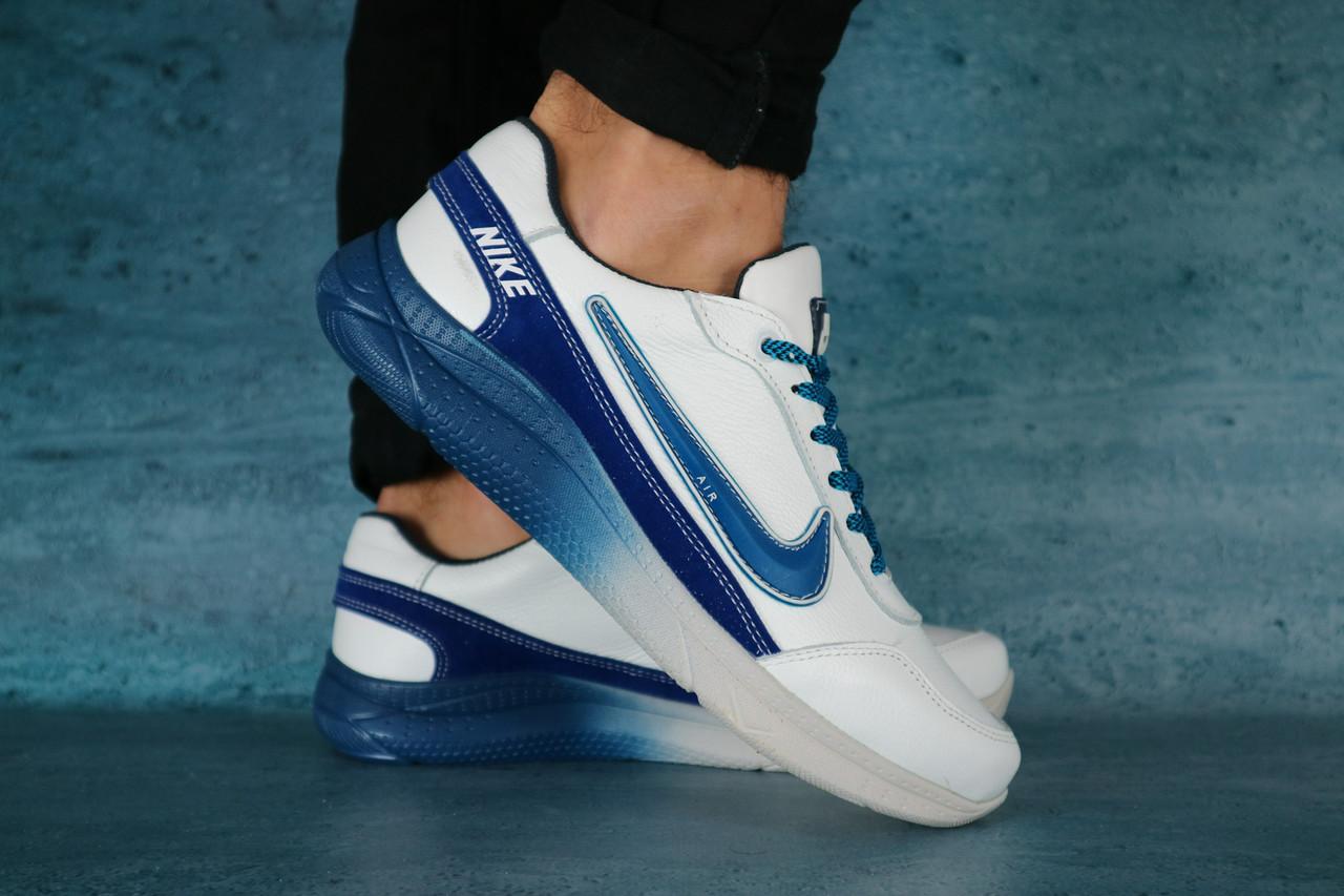 Мужские кроссовки Nike (синий/белый), ТОП-реплика