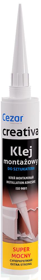 Клей монтажный Creativa для плинтусов из дюрополимера, 300 мл.