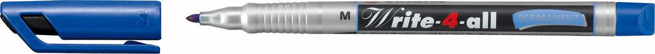 Ручка перманентна маркерна Stabilo Write-4-all синя