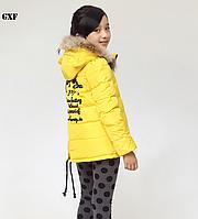 Очень стильная деми куртка GXF с ушками. Размеры 110-160., фото 1