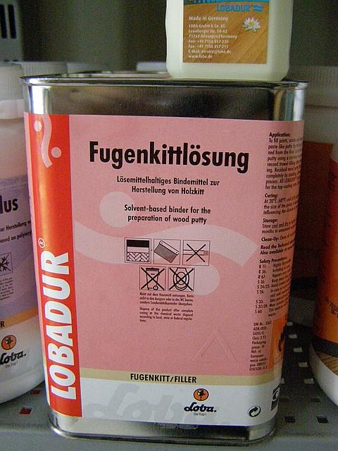 Шпаклевка -грунт LOBADUR® Fugenkittlösung 5л