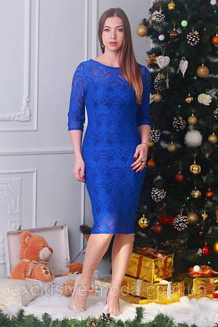 Стильное повседневное платье с гипюром, фото 2