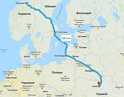 Перевозка карбид кремния из Норвегии в Украину