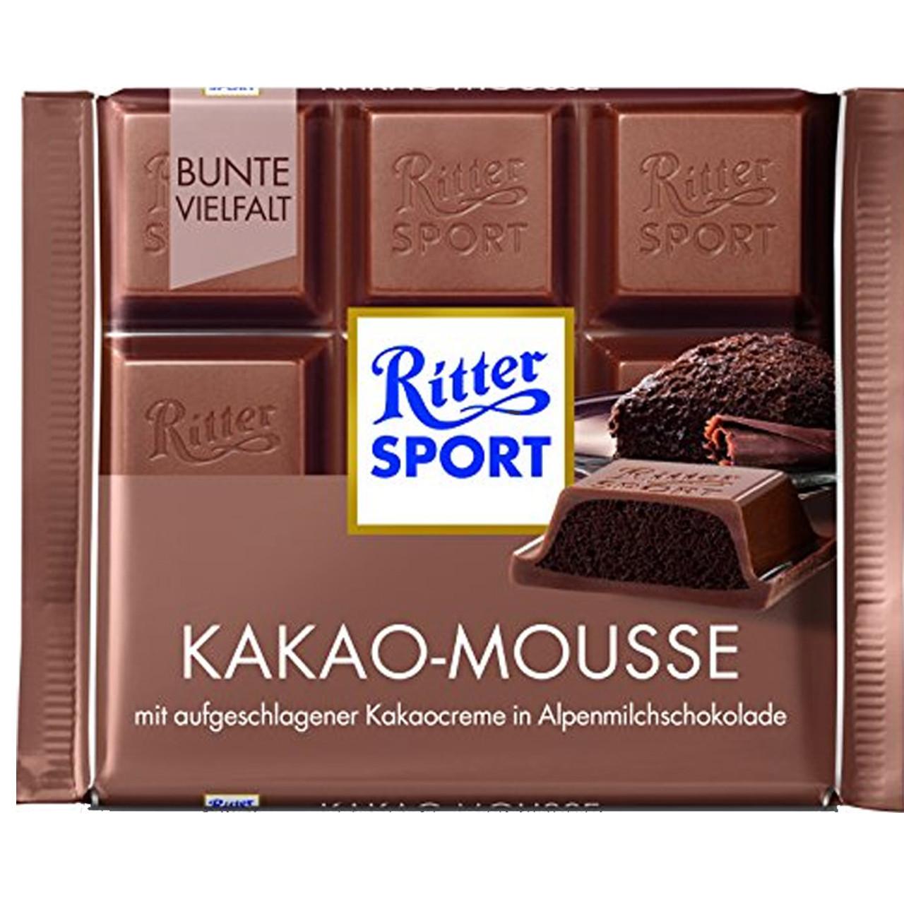 Шоколад Ritter Sport Kakao-Mousse Какао-мусс 100г (1уп/11шт)