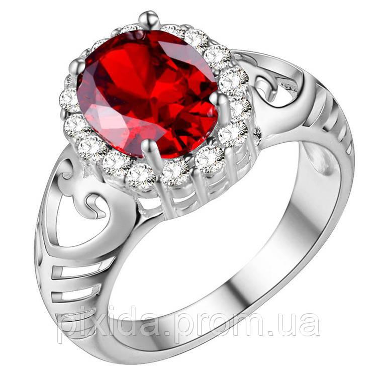 Кольцо Бриджит кристаллы покрытие 925 серебро проба (3 цвета)