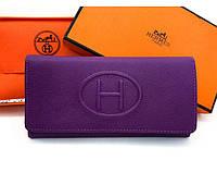 Женский кошелек Hermes  (H-615) purple SR-766