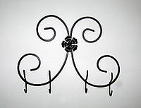 Вешалка кованая настенная №06 Бабочка, 43 см, фото 1