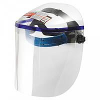 Щиток защитный, 425х220 мм, пластик, защита для лица, цельный корпус// MTX 89126