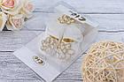 Пинетки + повязка с цветком из стразов , фото 2