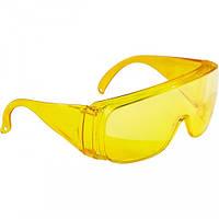 Очки защитные открытого типа, желтые, ударопрочный поликарбонат// СИБРТЕХ 89157