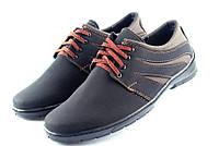 Туфли мужские на шнуровку – черный с коричневым