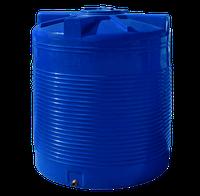 Емкость двухслойная, вертикальная 3000 литров - 147 х 178 см Ротоевропласт