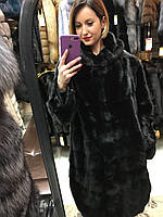Шуба Норковая Черная 100 см С Кулисками 0446ЕИШ