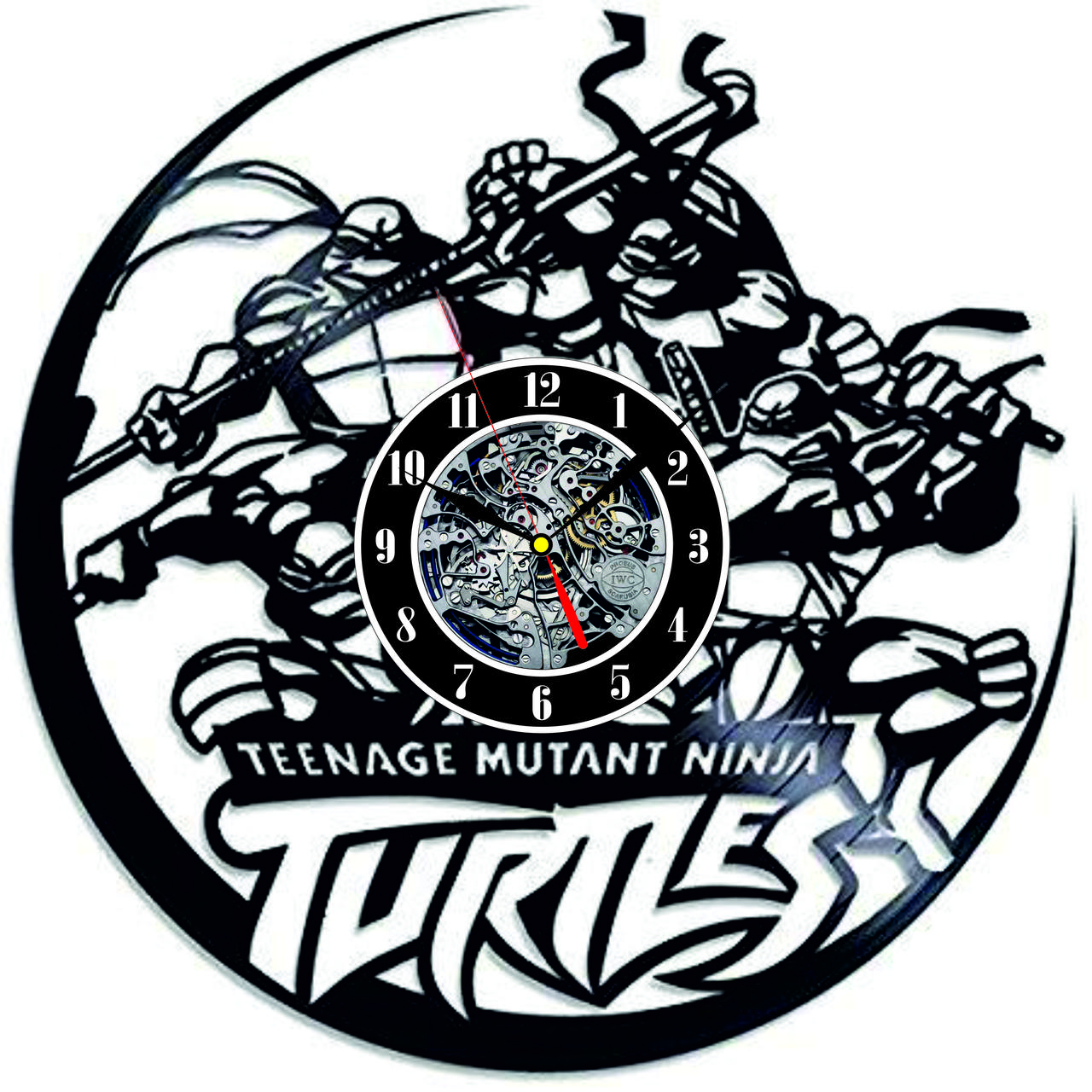 Настенные часы из виниловых пластинок LikeMark Turtles