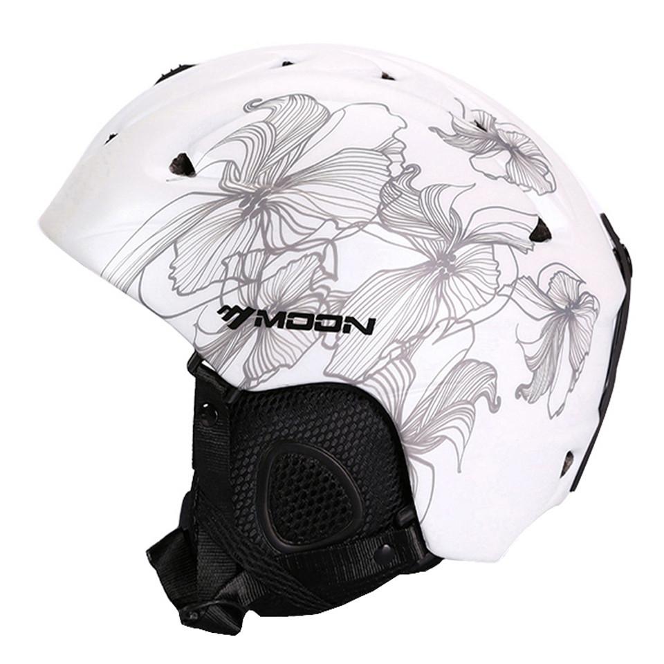 Гірськолижний / сноубордичний шолом DOTOMY MOON (White + Gray Flower)