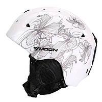 Гірськолижний / сноубордичний шолом DOTOMY MOON (White + Gray Flower), фото 1