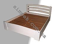 Кровать двуспальная из натурального дерева (разные цвета под заказ)