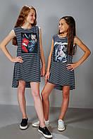 Летнее платье сарафан для девочки (0046)