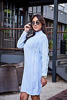 Женское вязанное платье (7276)