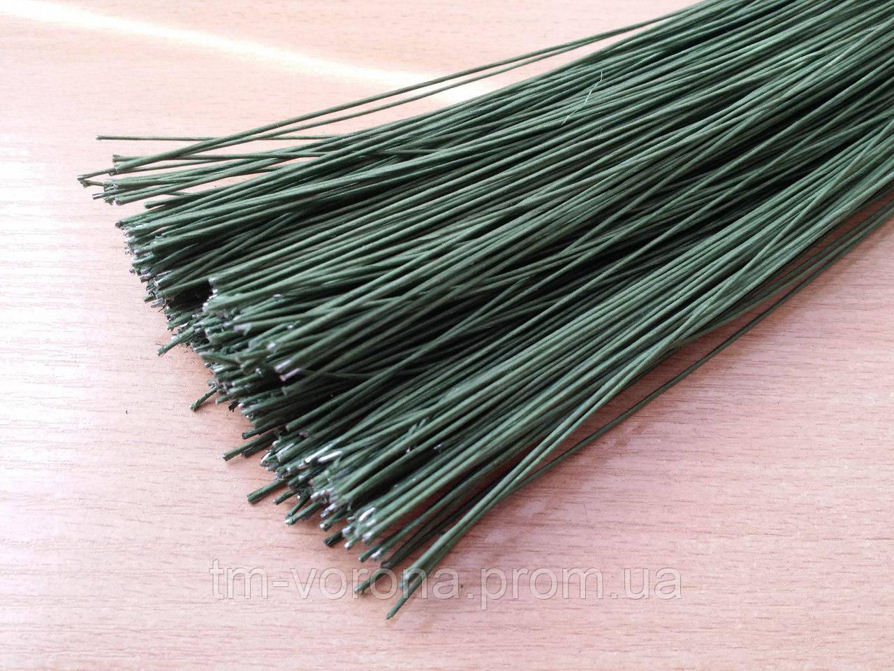 Проволока в тейп-ленте зеленая 0,7 мм