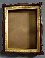 Киот для иконы деревянный с пластиковым багетом., фото 1