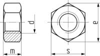 Описание: Гайка шестигранная DIN 934. Чертёж