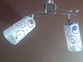Люстра потолочная на два 2 плафона хром 016KR