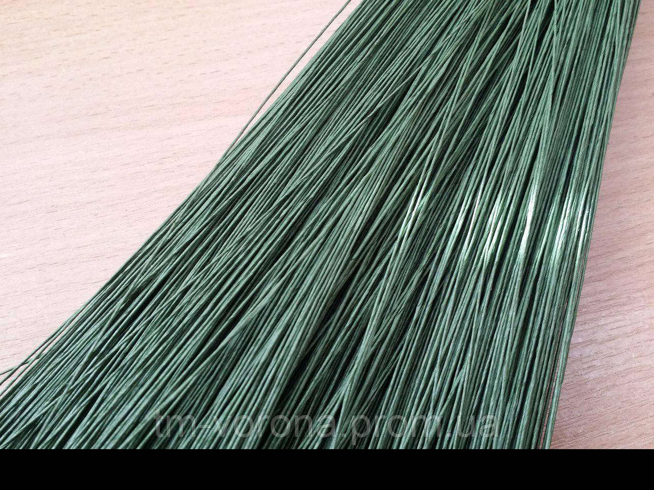 Проволока в тейп-ленте зеленая 0,4 мм