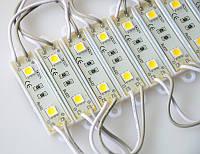 Светодиодный модуль (кластер) SMD5050, (Cold White) 2LED на модуле