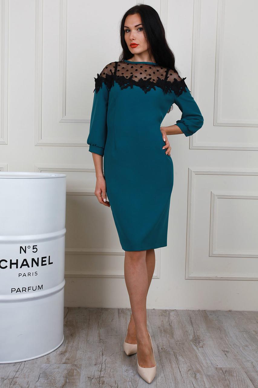 Современное платье с декоративными элементами - Оптово - розничный магазин  одежды
