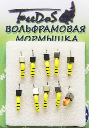 Мормышка вольфрамовая М1009 Гвоздекубик 1,5mm 0.2g, фото 2