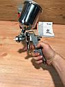 Краскораспылитель пневматический с верхним бачком V 0,6 л, сопло D 1.2, 1.5 и 1.8 мм MTX, фото 2